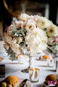 Pew Flowers, Wedding Flowers, Philadelphia Wedding Flowers, New Jersey Wedding Flowers, Ceremony Flowers, Hydrangea, Dahlias, Roses, Lanterns, Candles, Reception Flowers, Centerpieces, Wedding Centerpieces