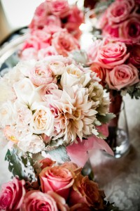 Pew Flowers, Wedding Flowers, Philadelphia Wedding Flowers, New Jersey Wedding Flowers, Ceremony Flowers, Hydrangea, Dahlias, Roses, Lanterns, Candles, Reception Flowers, Centerpieces, Wedding Centerpieces, Wedding Bouquets