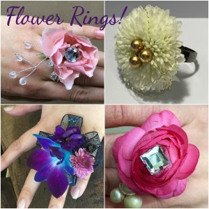 Flower Rings Collage