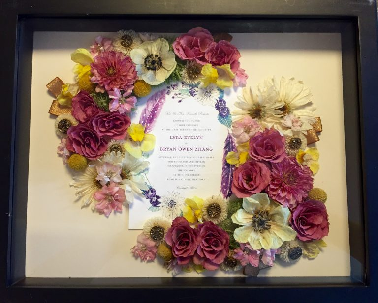 Custom Floral Preservation Art